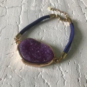 Druzy Bracelet Purple